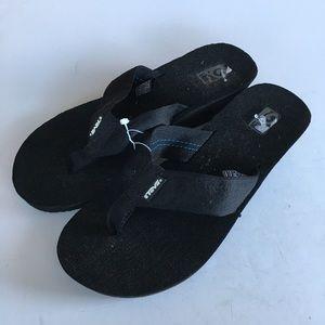 Teva wedge thong flip flop sandals